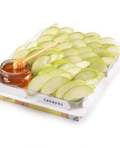 מגש פלחי תפוחי עץ בדבש