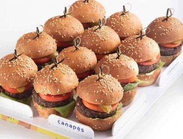 צילום של מגש המבורגר פורטובלו