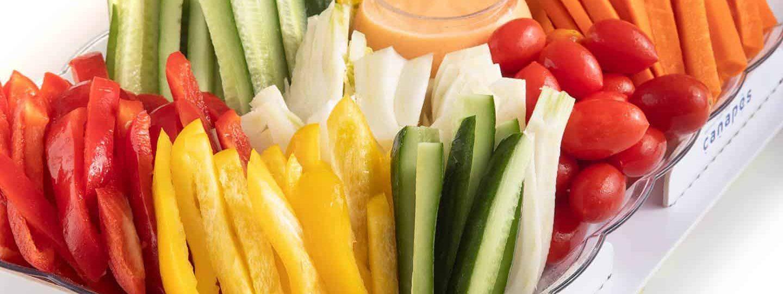 צילום של פלטת ירקות
